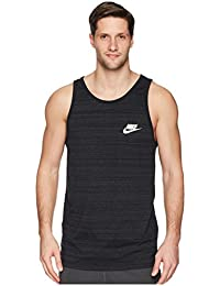 [NIKE(ナイキ)] メンズタンクトップ?Tシャツ Sportswear Advance 15 Tank Black/Heather/White M