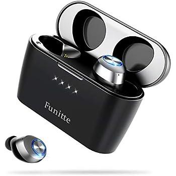 【進化版 Bluetooth イヤホン 】 ワイヤレス イヤホン 130時間連続駆動 イヤホン AAC対応 Hi-Fi 高音質 最新bluetooth 5.0+EDR搭載 完全ワイヤレスイヤホン 自動ペアリング ブルートゥース イヤホン 片耳&両耳とも対応 技適認証済/Siri対応/iPhone&Android対応 (ブラック)