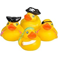 Rhode Island Novelty - Rubber Ducks - PIRATE DUCKIES (Set of 4 Styles) [並行輸入品]