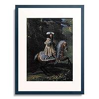 Meister Französischer 「Bildnis eines Reiters in vornehmem Kleid」 額装アート作品