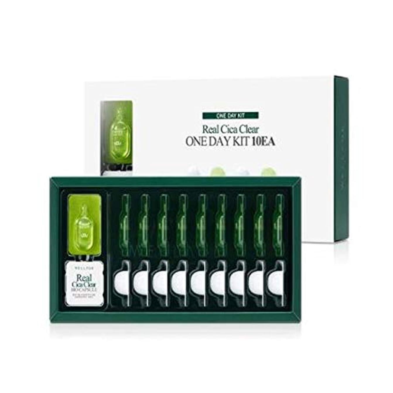 泣き叫ぶ影響マットWELLAGE(ウェラージュ) リアルシカクリアワンデイキット 10EA / Real Cica Clear One Day Kit