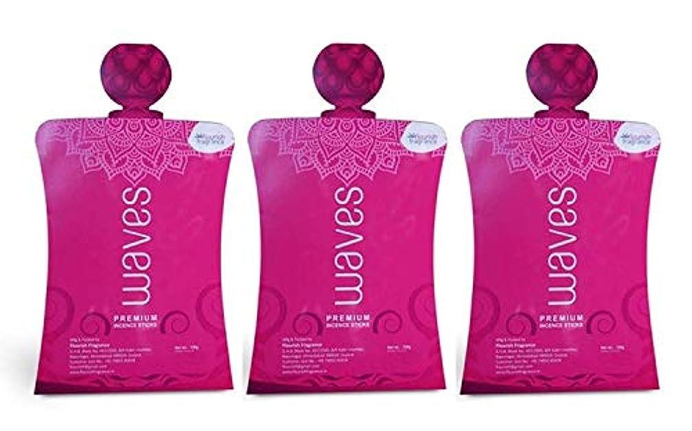 言い換えると溶ける旋回FLORISH FRAGRANCE Waves Pink Incense Sticks Pack of 3 (140 Gm Each)