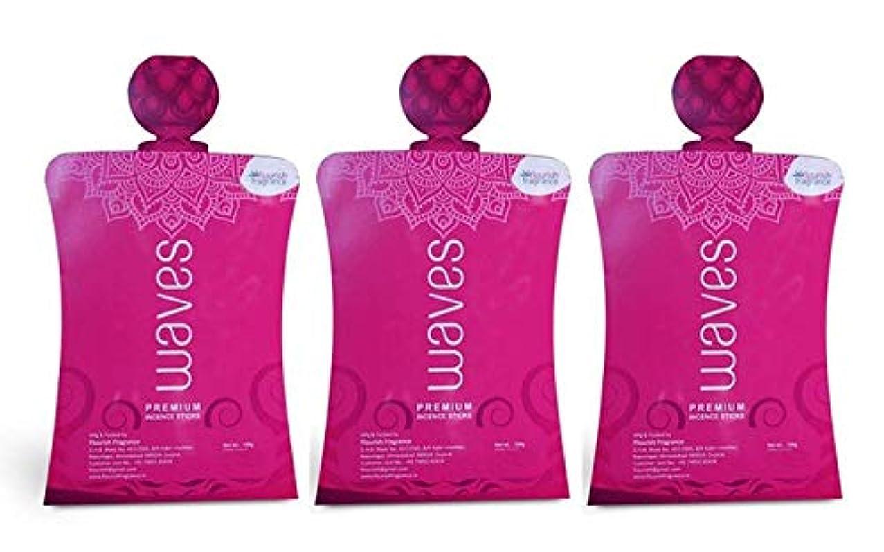 ふさわしい識別する怒っているFLORISH FRAGRANCE Waves Pink Incense Sticks Pack of 3 (140 Gm Each)