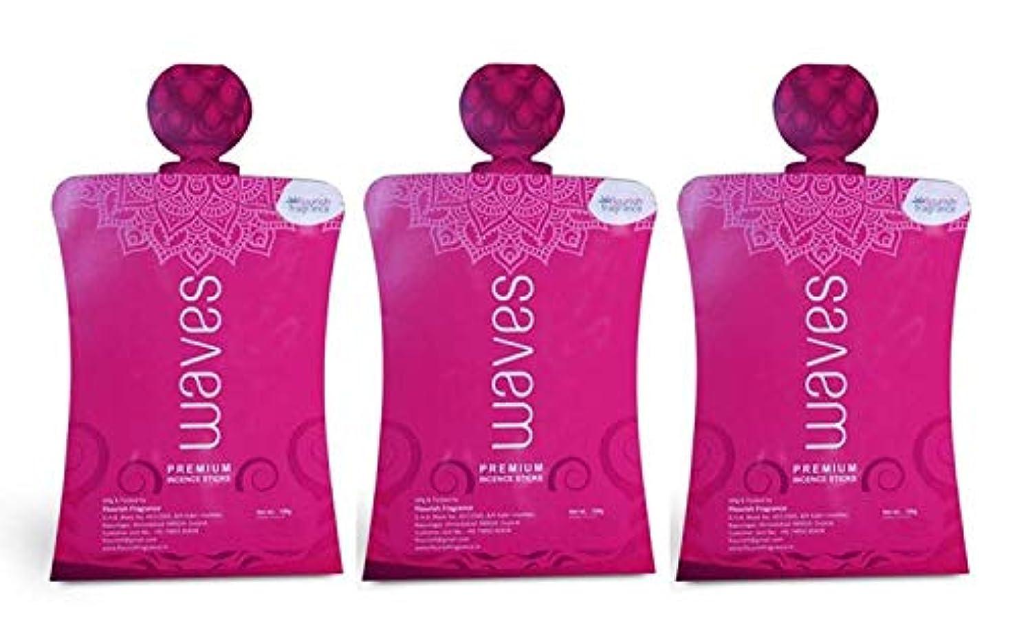 あいまい絶滅した類似性FLORISH FRAGRANCE Waves Pink Incense Sticks Pack of 3 (140 Gm Each)