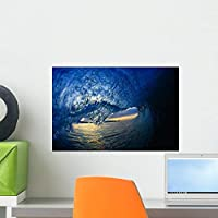 Inside Breaking Ocean Wave Wall Mural by Wallmonkeys Peel and Stick Graphic (18 in W x 12 in H) WM306038 [並行輸入品]