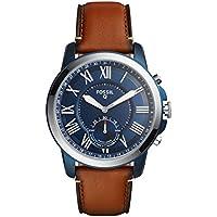 Fossil Men's Q Grant Hybrid Smartwatch Brown Watch, (FTW1147)