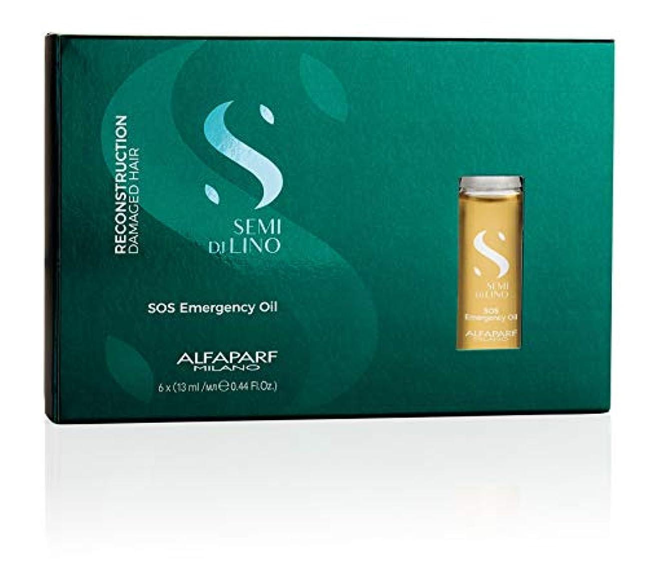 経験第賄賂アルファパルフ Semi Di Lino Reconstruction SOS Emergency Oil (Damaged Hair) 6x13ml/0.44oz並行輸入品