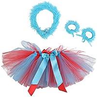 PRETYZOOM 1 Set 4pcs Tutu Skirt Headband Plush Wristbands Dress up Party Costume for Children Girl