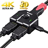 Tendak HDMI切替器 双方向 hdmiセレクター4K@60HZ 3D対応 hdmi分配器 1入力2出力/2入力1出力 手動切替