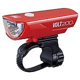 キャットアイ(CAT EYE) LEDヘッドライト VOLT200 HL-EL151RC USB充電式 レッド