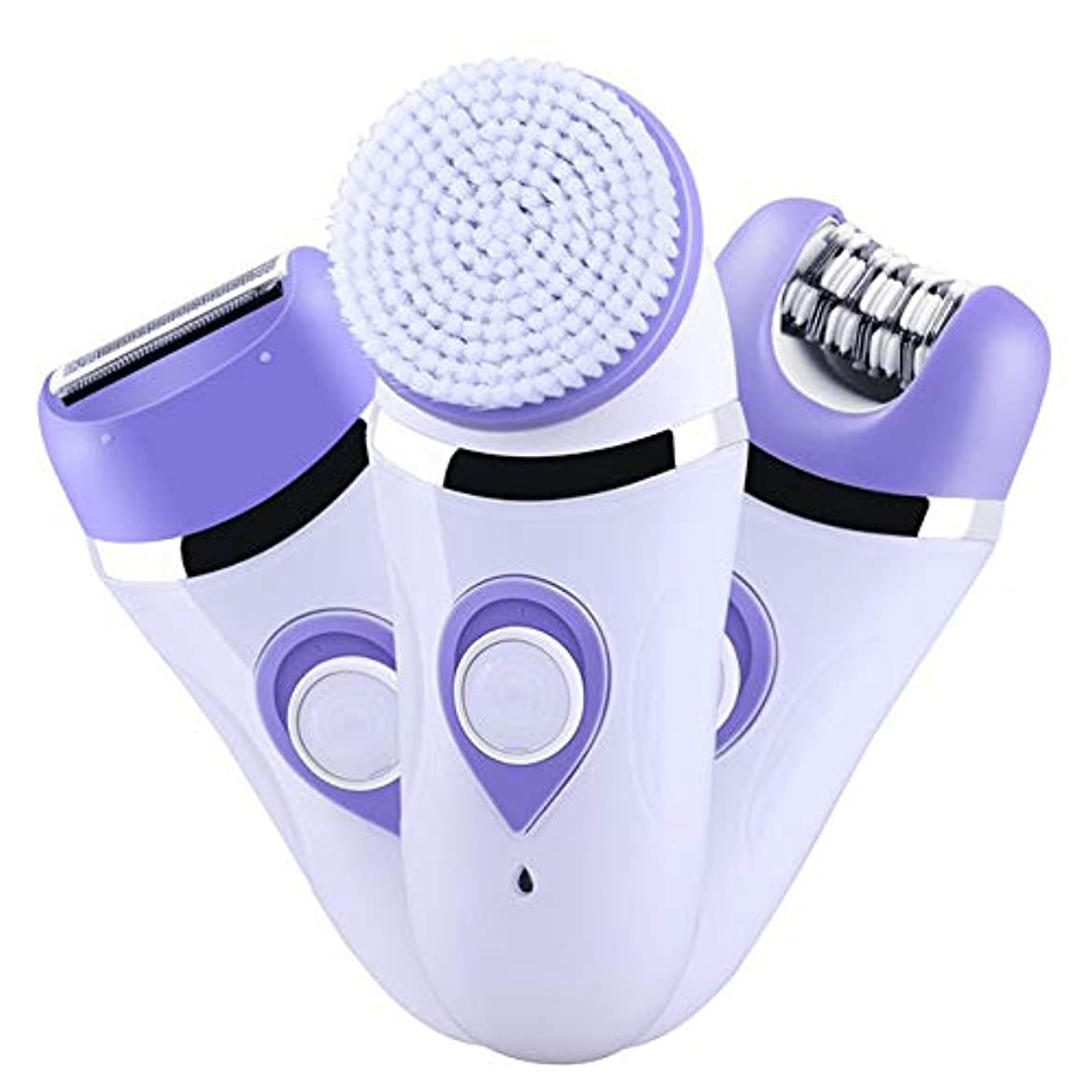 回転工業化する開始女性用多機能電動脱毛装置、痛みのない3-In-1ビキニトリマー、脱毛専用ツール