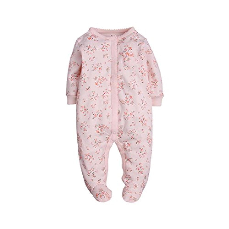 カーターズ Carter's カバーオール ロンパース 足付き 足つき 女の子 ピンク&小花 (9months(67-72cm)) [並行輸入品]