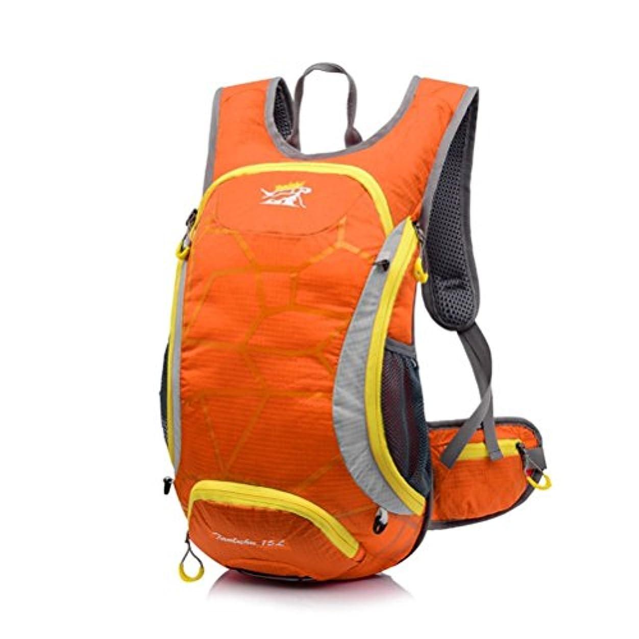 天皇まばたきなぜTenflow リュック リュックサック 防水 バックパック バッグ ザック オシャレ カジュアル 大容量 クライミング 旅行 サイクリング 021-rysm-644(15L オレンジ)