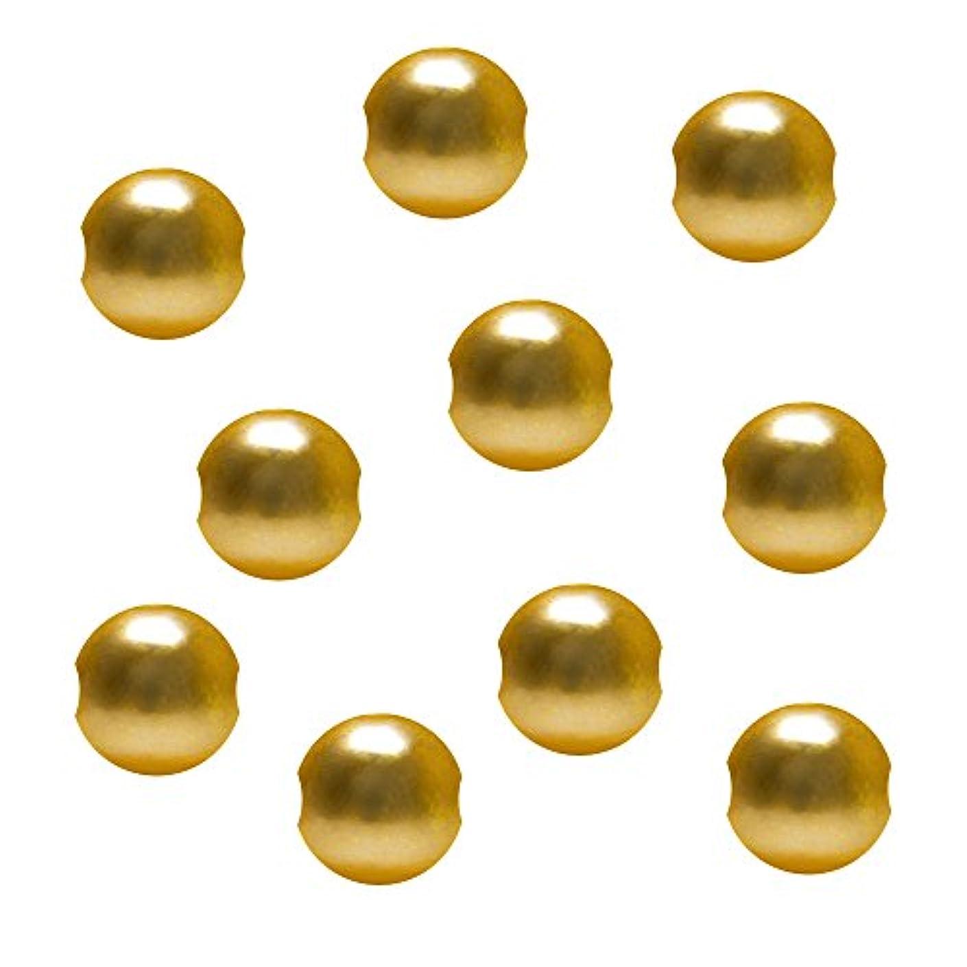 光日常的におばさんジェルネイル  サンシャインベビー ジュエリーボールゴールド穴あり6mm