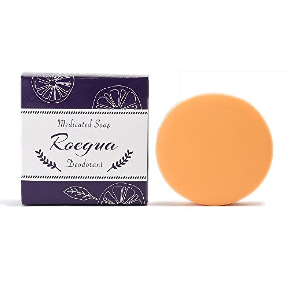 騒添加慢なロエグア ワキガ消臭石鹸 80g