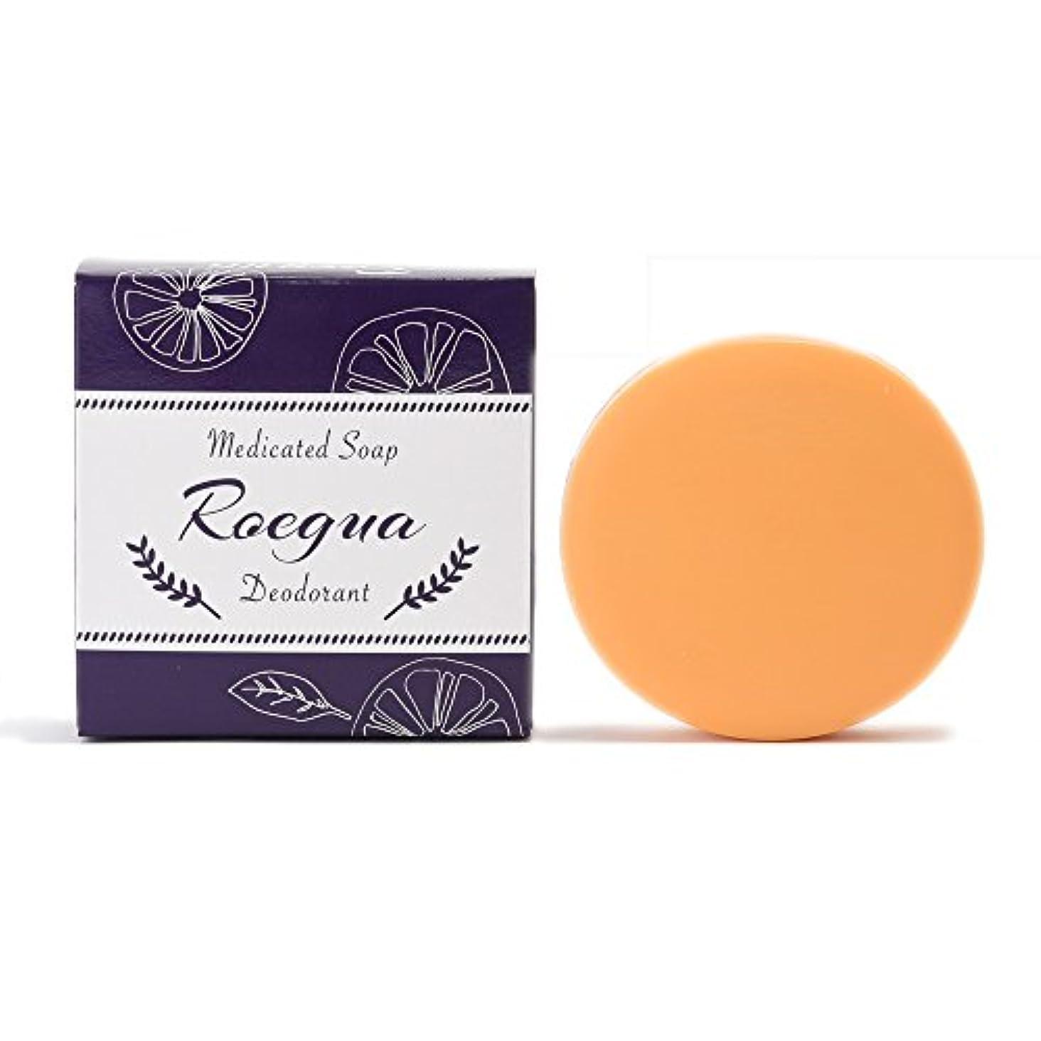 思い出す夜分注するロエグア ワキガ消臭石鹸 80g