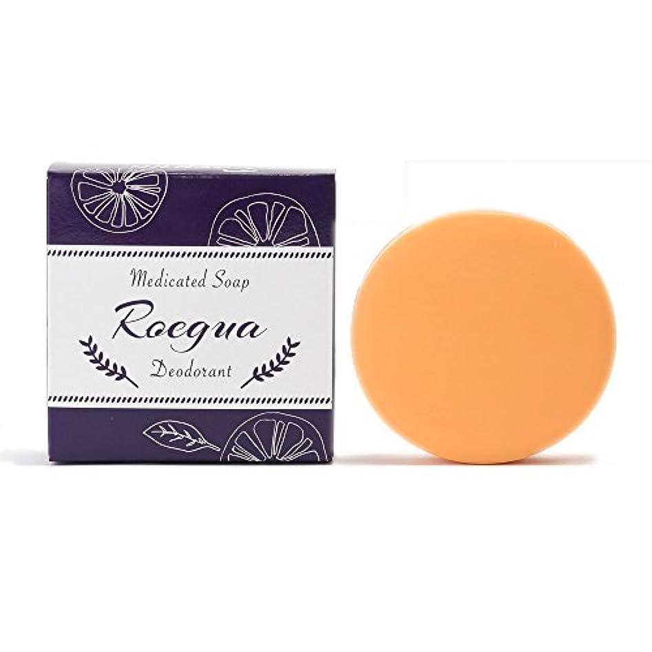 宗教的な楕円形十ロエグア ワキガ消臭石鹸 80g