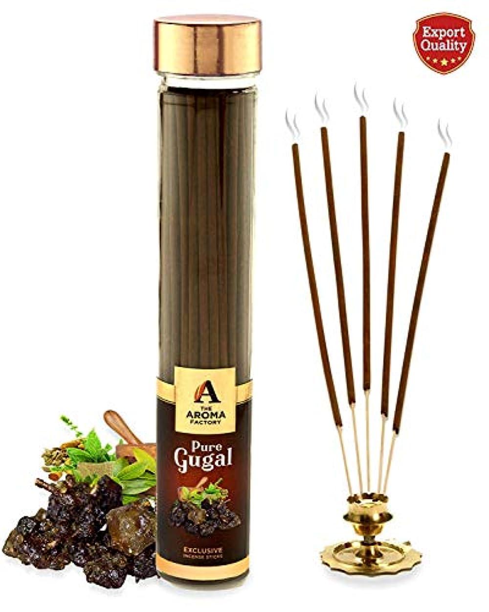 真実にデザート変化The Aroma Factory Pure Gugal Incense Sticks Agarbatti (Bottle Pack of 100)