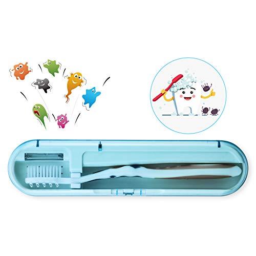 UV歯ブラシ除菌器 Miuphro 紫外線消毒 歯ブラシケース UV歯ブラシ...