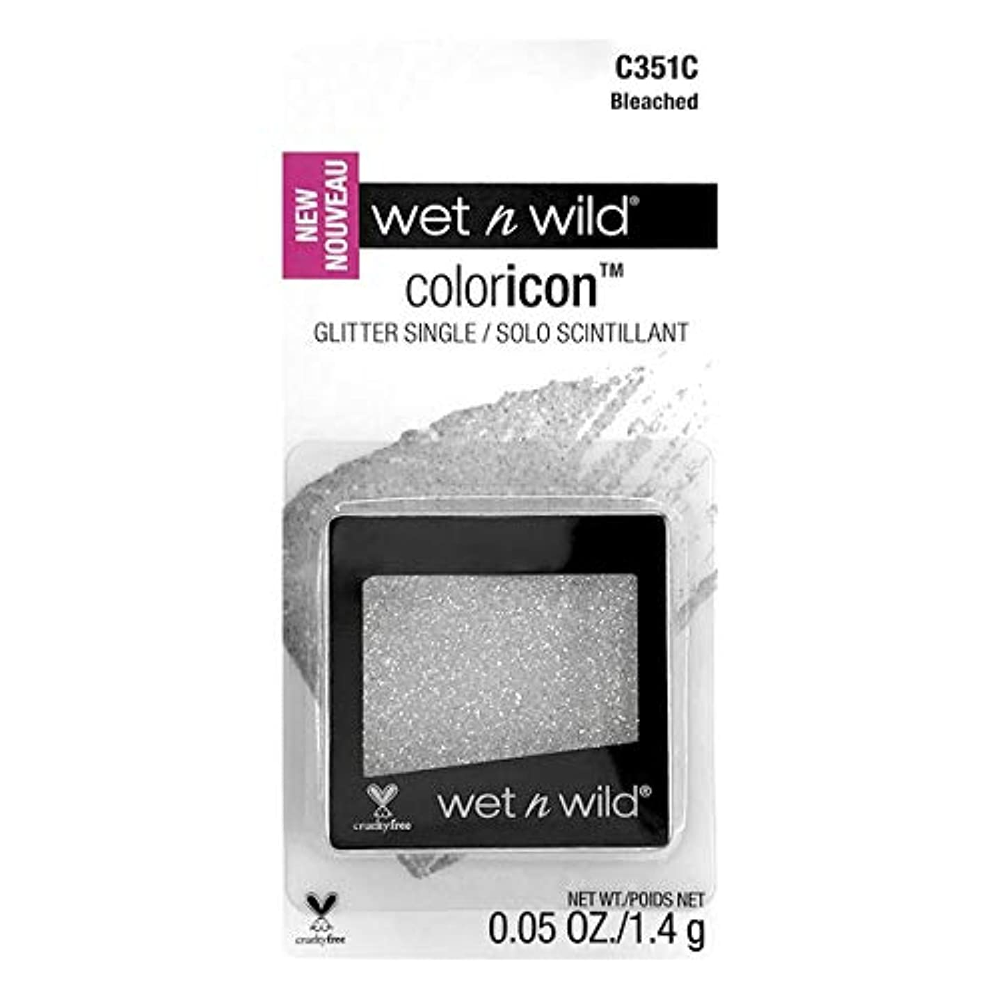 疲れた免疫する失礼なWET N WILD Color Icon Glitter Single - Bleached (CARDED) (3 Pack) (並行輸入品)