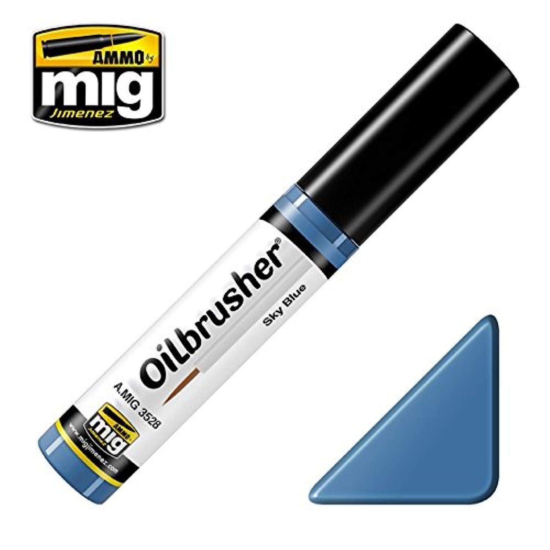 AmmoのMig oilbrusherスカイブルー – Oilペイントwith Fineブラシ付きアプリケーター# 3528