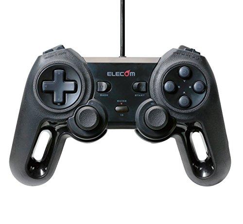 エレコム USBゲームパッド/モンスターハンターフロンティアZコラボレーションモデル/13ボタン/振動/連射/高耐久/ブラック 1個