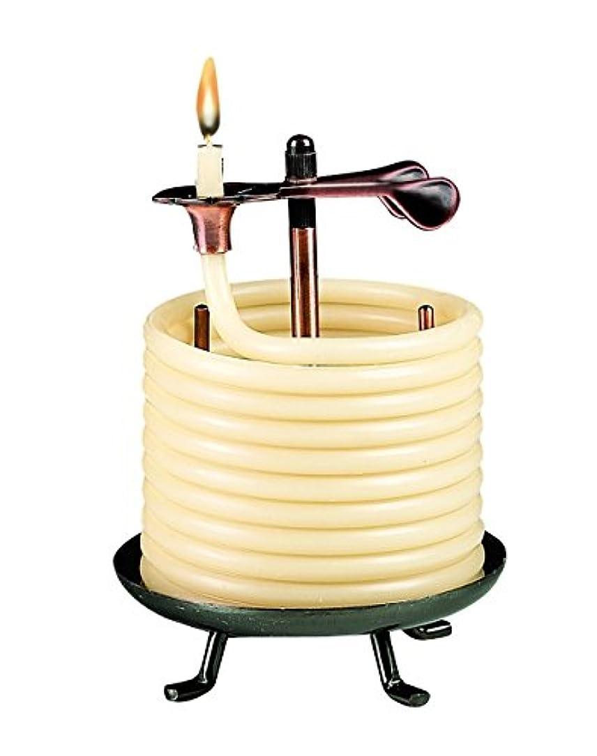 波紋一時的裁判所Candle by the Hour 60-Hour Candle, Eco-friendly Natural Beeswax with Cotton Wick by Candle by the Hour