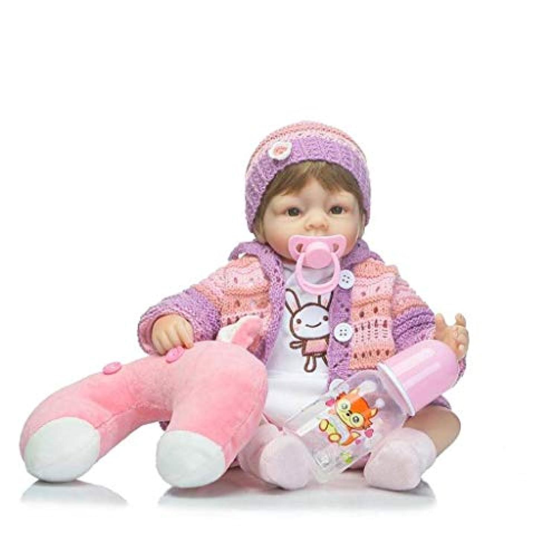 17インチキュートAlive CollectibleシリコンRebornベビーガール人形withブラウンHair