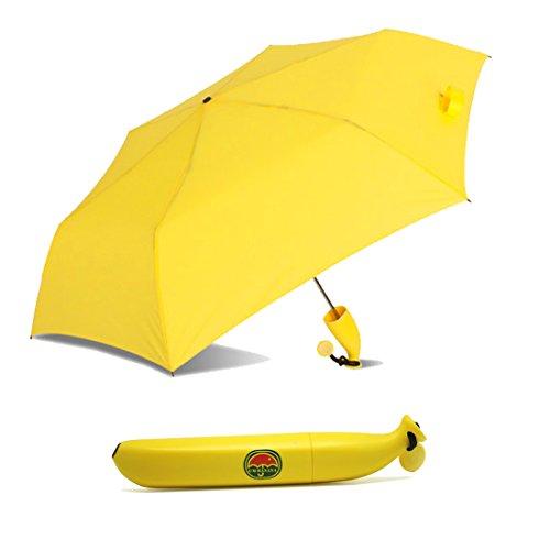 A-SZCXTOPバナナ傘 折りたたみ傘 面白いデザイン 可愛い 晴雨兼用 軽量 携帯に便利 プレゼントに最適