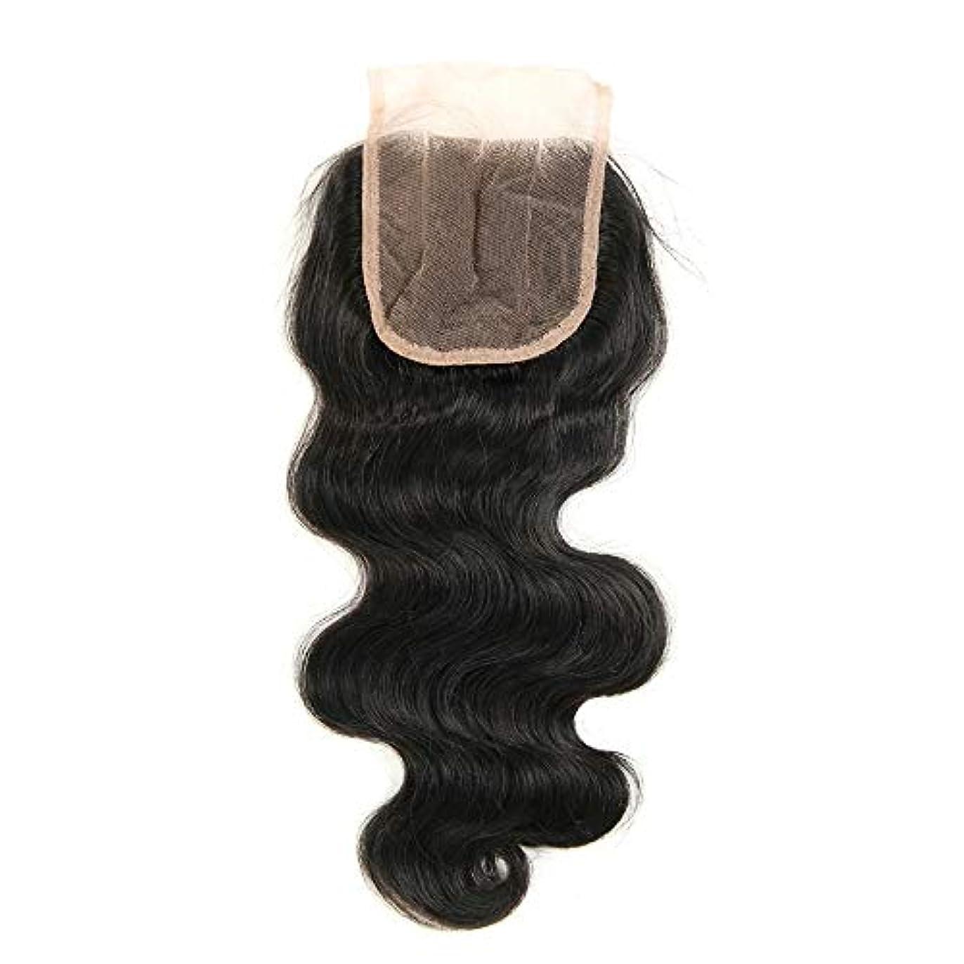 SRY-Wigファッション ヨーロッパとアメリカ人毛ウィッグ用ルーズウェーブカーリー耐熱フロントレースボブヘアブラックファイバーウィッグ女性 (Color : ブラック, Size : 20inch)