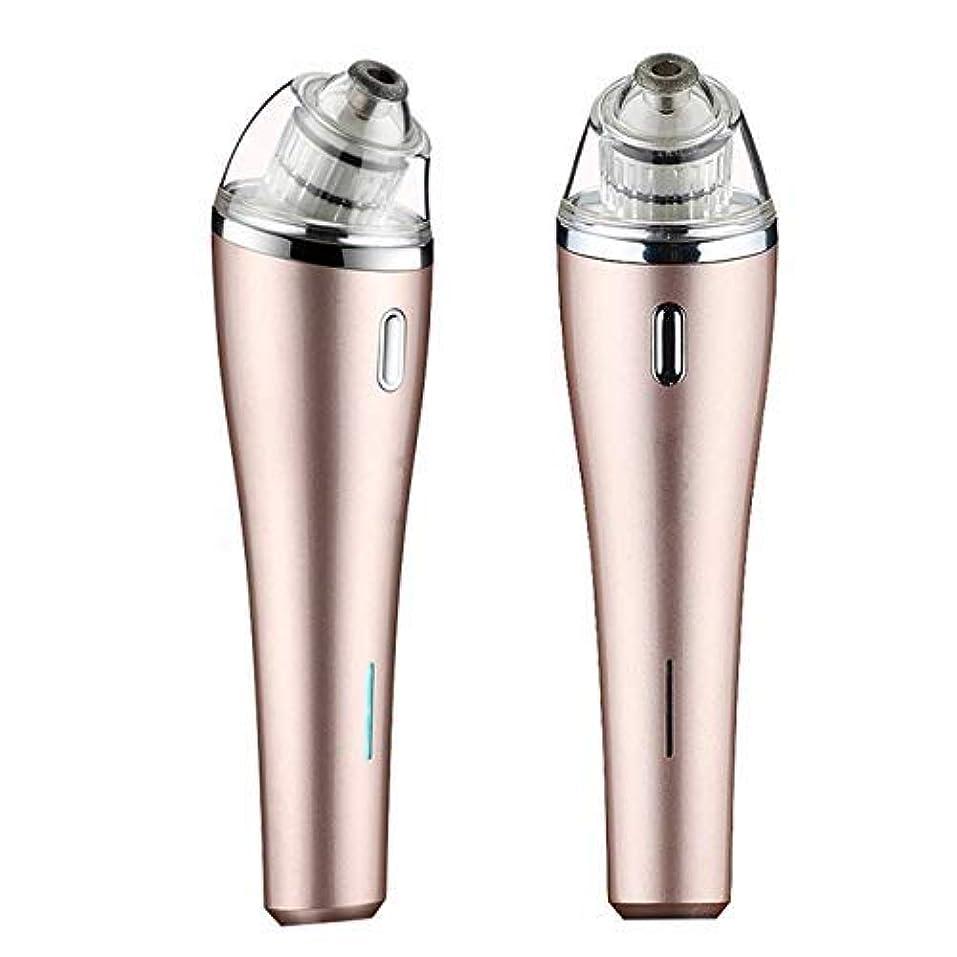 気分理容師やる電気にきび楽器多機能ホーム顔の毛穴クリーニング美容機器usb充電式にきび真空抽出器、ピンク (Color : Gold)