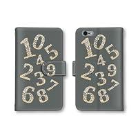 【ノーブランド品】 Xperia Z4 402SO スマホケース 手帳型 数字 キラキラ グレー 灰 かわいい おしゃれ 携帯カバー 402SO ケース エクスぺリアZ4 携帯ケース