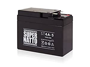 SUPER NATTO バイク用バッテリーST4A-5(YTR4A-BS GTR4A-5 FTR4A-BS互換) シールド型 メンテナンスフリー( ライブDio/SR/ZX Dio フィット ジョルノ タクト (AF30/31)) 4A-BS