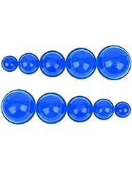 シリコンカッピング 12個セット 吸い玉 水洗い可能 全身マッサージ CkeyiN (ブルー)