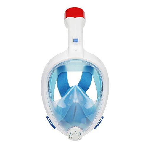 VILISUN シュノーケルマスク ダイビングマスク 180°フルフェイス型 ドライスノーケル 自由に呼吸可能 曇りにくい 浸水防止 スポーツカメラ対応 シュノーケル用具/ダイビング/スノーケル 男女兼用/大人子供