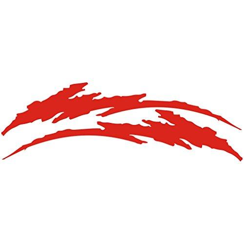 3044__R 車のステッカー傷の入れ墨 ( Red)...