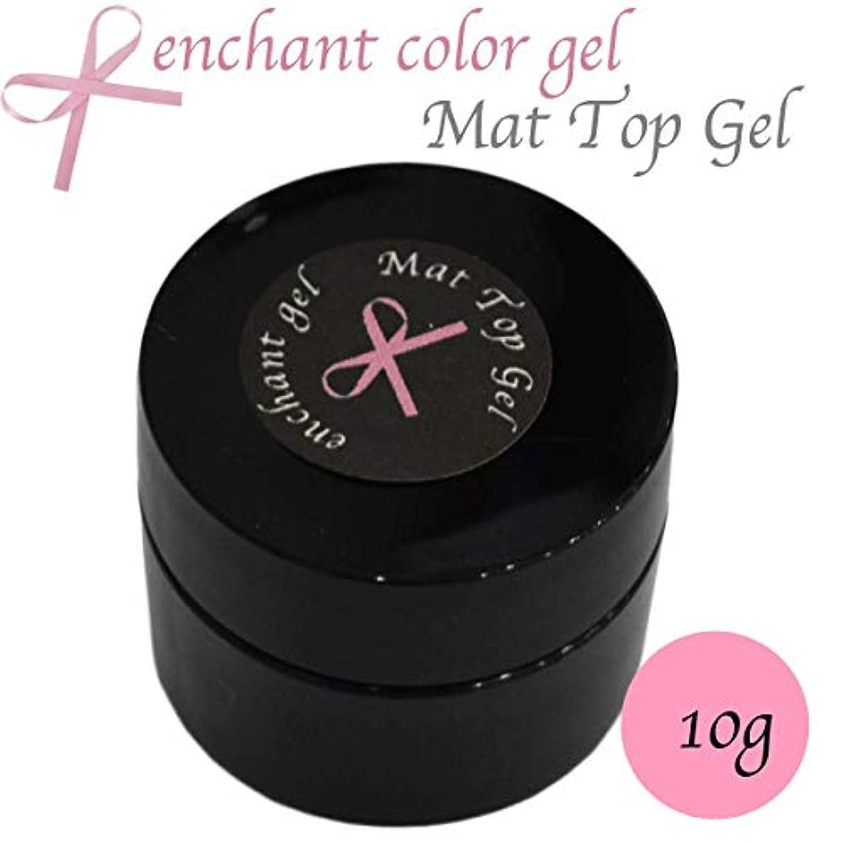 真空バレル欠点enchant gel mat top coat gel 10g / エンチャントジェル マットトップコートジェル 10グラム