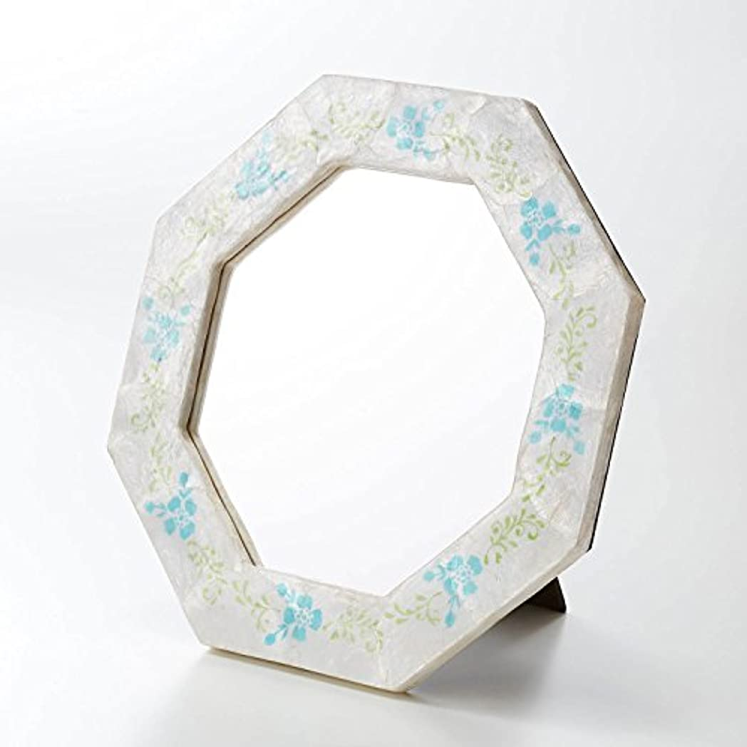 デコードするガレージ家庭[ベルメゾン] カピス貝の八角ミラー