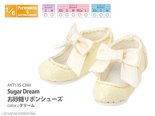 ピュアニーモ用 Sugar Dream お砂糖リボンシューズ クリーム (ドール用)