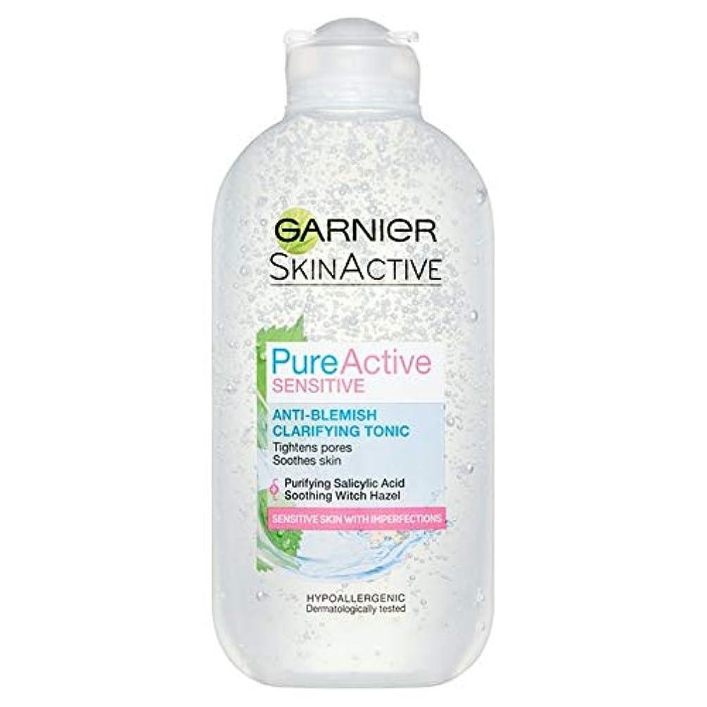 豪華な原理常に[Garnier] 純粋な活性敏感な抗傷明確顔トニック200ミリリットル - Pure Active Sensitive Anti-Blemish Clarifying Face Tonic 200ml [並行輸入品]