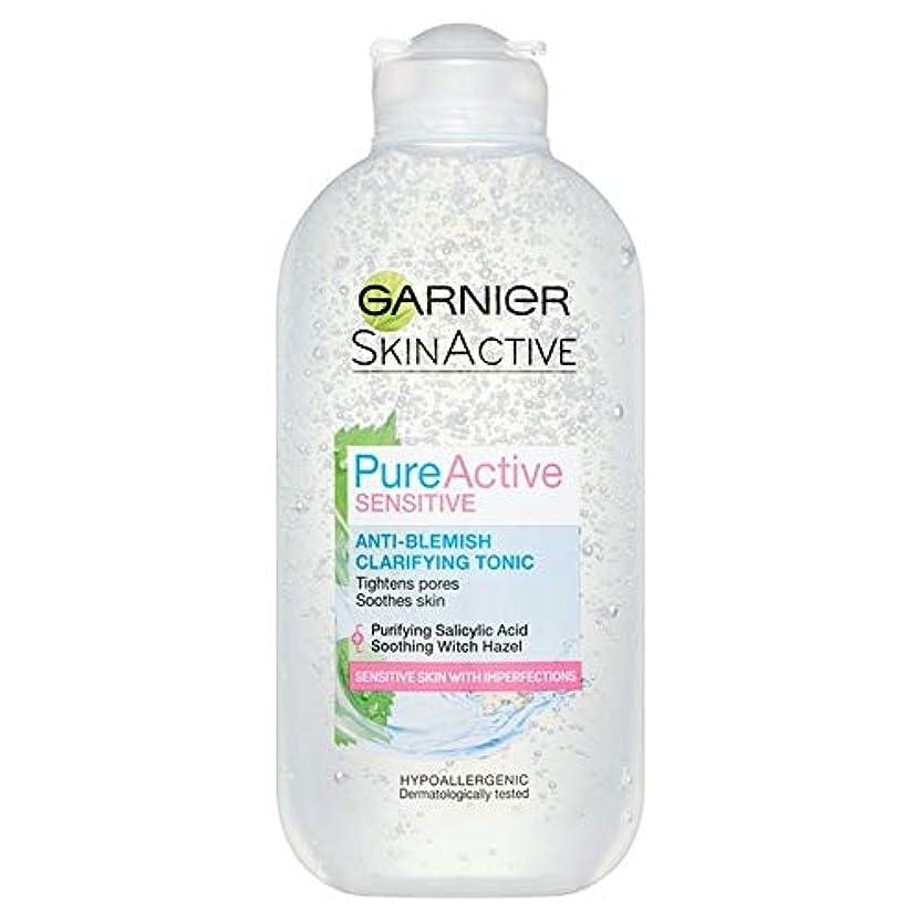 ママエンジニアツール[Garnier] 純粋な活性敏感な抗傷明確顔トニック200ミリリットル - Pure Active Sensitive Anti-Blemish Clarifying Face Tonic 200ml [並行輸入品]
