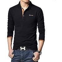 Fansgone ポロシャツ 半袖or長袖メンズ カジュアル おしゃれ ゴルフウェア シンプル 通気性 吸汗 秋 polo ファッション カッコイイ Tシャツ 全4色