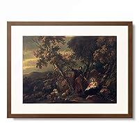 ニコラース・ベルヘム Nicolaes Berchem 「Rest on the Flight to Egypt.」 額装アート作品
