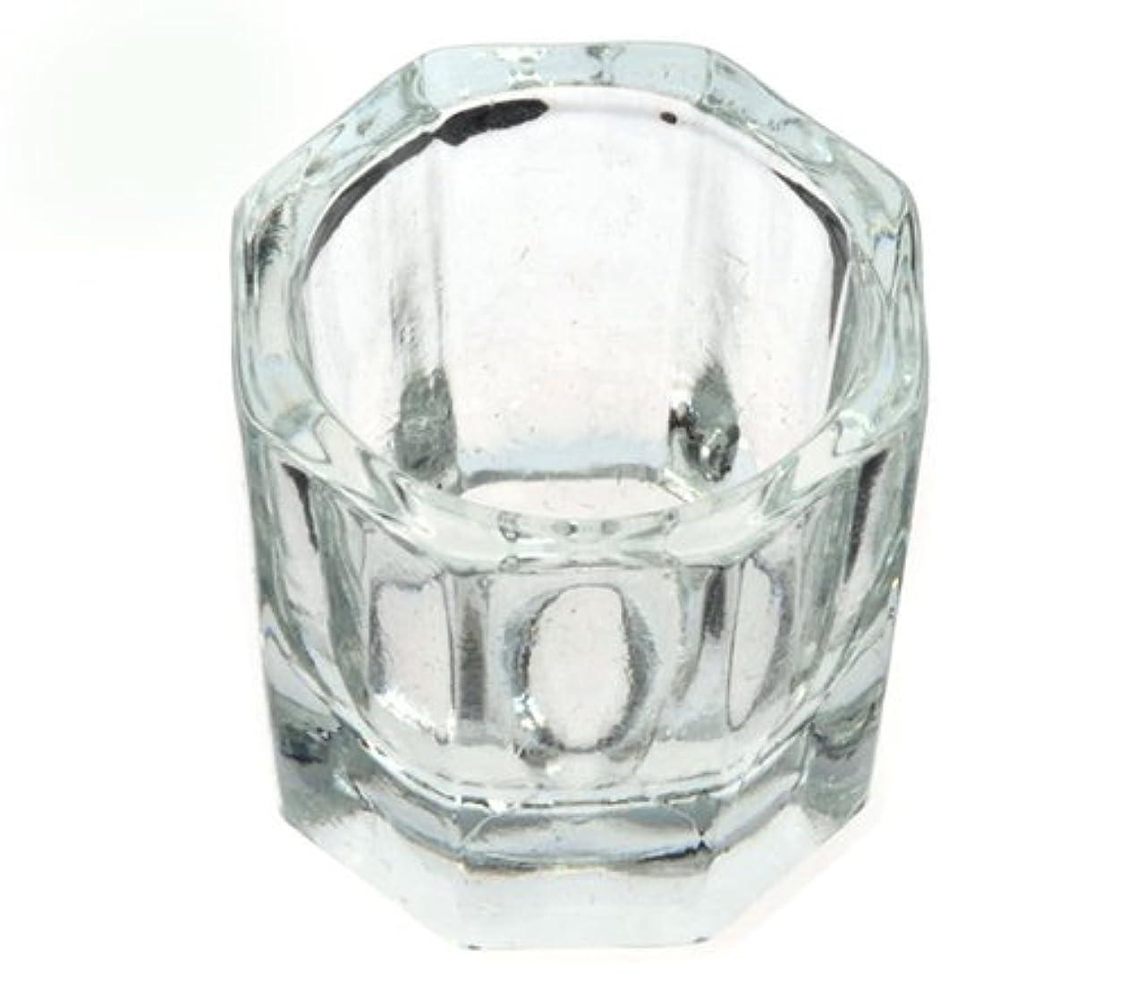 ぬるいキャップサスペンドダッペンディッシュ グラスディッシュ 筆洗い ガラス容器 ジェルネイル用筆洗浄