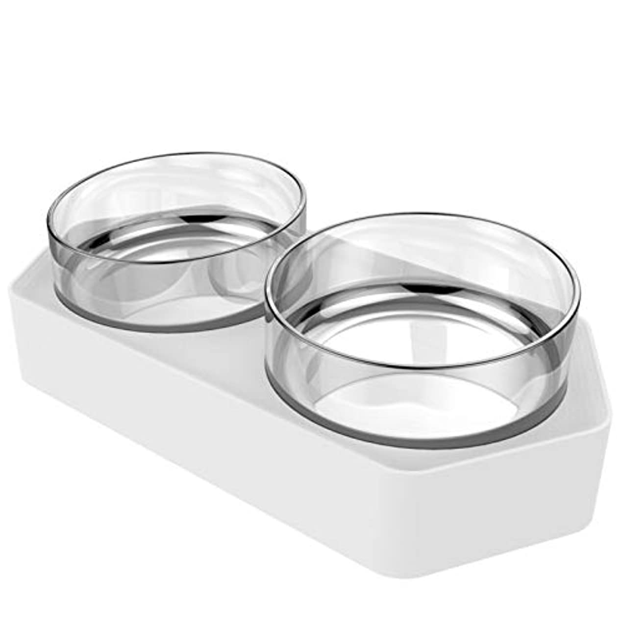 LIFE新しいプラスチック製ダブルノンスリップペットボウル子犬猫食品水フィーダーボウルペット給餌食器犬のボウルペット給餌猫ボウルペット食器
