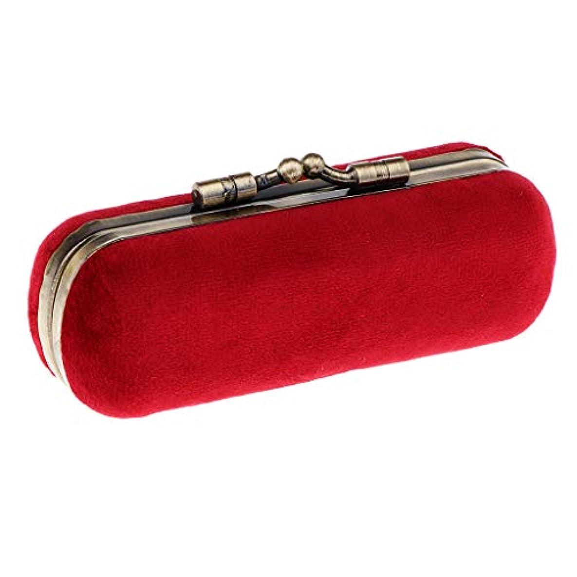 窒素船員全能Sharplace 口紅ホルダー 空箱 メイクボックス 化粧ポーチ 化粧ケース 収納ボックス 全8色 - 赤紫