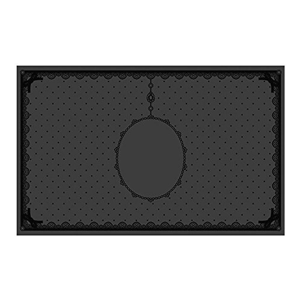 ハンバーガースポーツマンスティックシリコンマット(表面コート)ブラック