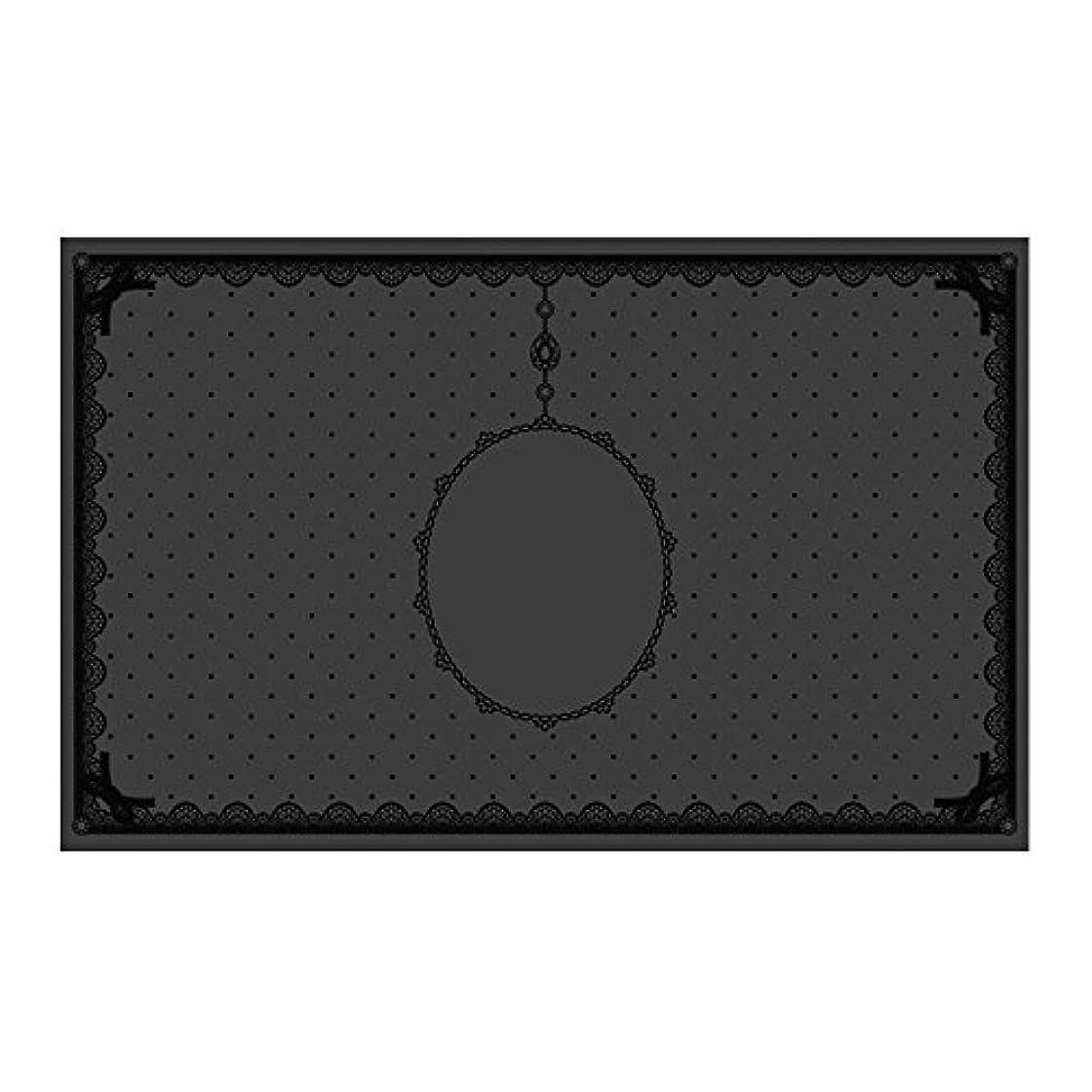 現実的留め金バッグシリコンマット(表面コート)ブラック