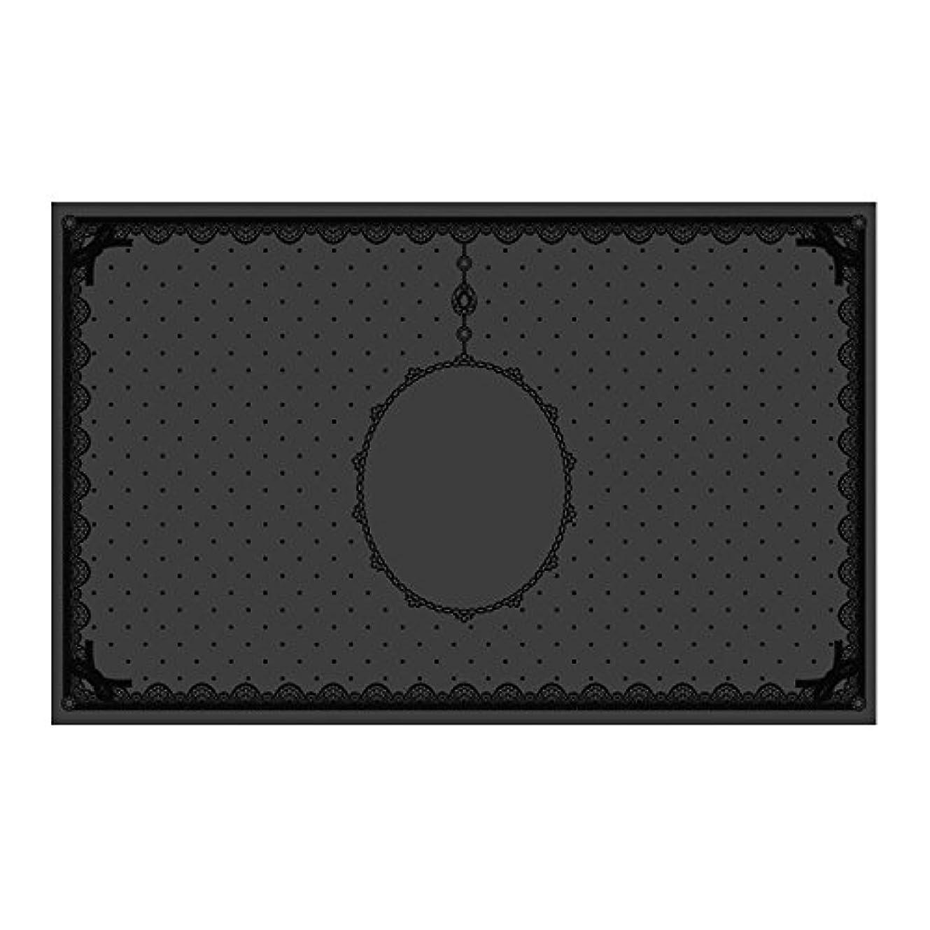 鉄道駅破壊的ジャンクションシリコンマット(表面コート)ブラック