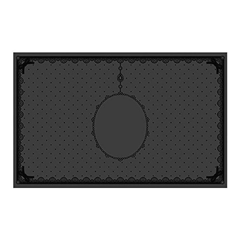 ファブリック地上のうっかりシリコンマット(表面コート)ブラック